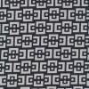 "Rest Bengalin m/""kæde-mønster""sort/lysegrå, 95 cm.-03"