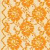 Blonde viscose/polyester m/buet kant, orange-03