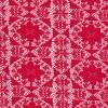 Rest Rød blonde m/blomst/firkant, 110 cm.-05