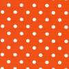 Bomulds-poplin m/hvide prikker, orange-01