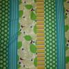 Bomuld/hør m/mønster-striber lime/turkis/græsgrøn-05