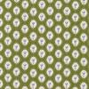Rest Bomuld m/oval blomster-mønster, oliven 65 cm.-03