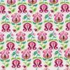 Bomuld m/tulipan hvid/lyserød/grøn-05