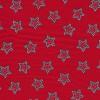 Bomuld m/prikker/stjerner rød/grå-05