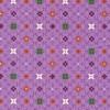 Rest Bomuld m/mønster/blomst lyselilla, 55 cm.-05