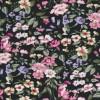 Bomuldspoplin m/blomster, sort/rosa/støvet grøn-03