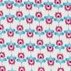 Bomuld hvid m/blomst pink/turkis-01