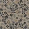 Rest Let bomuld m/blomster, beige/sort/grå 30 cm.-03
