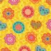 Bomuld m/blomster/hjerter, gul/orange/mint-03