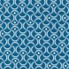 Bomuld mønstret petrol-blå/hvid-03