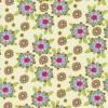 Rest Bomuld m/blomster, creme/lime/lyseblå, 55 cm.-01