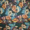 Bomuldssatin m/stræk, blomstret duset flaskegrøn-04