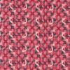 Bomuld med roser og firkanter i koral-rød-04