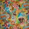 Bomuld m/digitalt print, cirkus-01