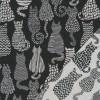 Bomuld/polyester m/katte i sort og offwhite-06