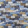 Bomuld med nummerplader i blå lyseblå beige-06