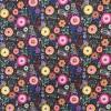 Bomuld/polyester retro sort med blomster-05