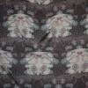 Chiffon silke/bomuld mørkelilla m/mønster-01