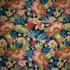 Rest Chiffon m/blomster sort/rosa/grøn/blå, 90 cm.-05