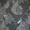 Chiffon m/grafisk mønster sort/hvid-03