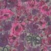 Let krøllet chiffon m/blomster, grå/lilla/pink-01