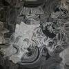 Chiffon m/blomst/cirkel sort/sand/hvid-05