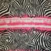 Chiffon zebra-mønster/striber sort/hvid/pink-05