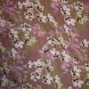 Rest Blomstret Chiffon gl.rosa/rosa/oliven 100 cm.-03