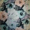 Rest Cowboy m/stræk and blomster, lys turkis/laks/sort 100 cm. med fejl-03