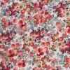 Cowboy med stræk digital print blomstret i hvid rød grøn-017