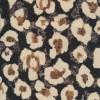 Cowboy med stræk digital print i sort med difuse blomster-018