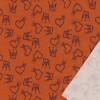 Isoli i støvet orange med hjerter og prinsesse kroner-013