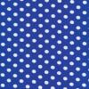 Bomuld/lycra økotex m/prikker, klar blå/hvid-05