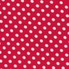 Bomuld/lycra økotex med prikker, rød/hvid-03