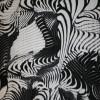 Rest Viscose/elasthan mønstret/zebra-print sort/hvid, 150 cm.-05