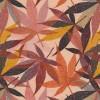 Bomuld/lycra økotex med digitalt tryk med blade i brændt orange rosa carry-012
