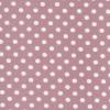 Bomuld/lycra økotex m/prikker, gl.rosa/hvid-03