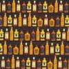 Bomuld/lycra økotex m/digitalt tryk, m/flasker mørk brun orange gul-02