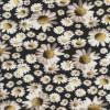 Bomuld/lycra økotex med digitalt tryk, Marguerit sort-hvid-lys gul-06