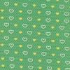 Bomuldsjersey GOTS semi-digital grøn med hjerter-015