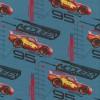 Bomuldsjersey økotex m/digitalt tryk grå-blå Cars Lynet Mcqueen-06