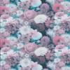 Bomuldsjersey med blomster i digitalprint i rosa hvid petrol-010