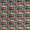 Bomuldsjersey økotex m/digitalt tryk grå-grøn, Cars-07