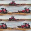 Afklip Bomuld/lycra økotex m/digitalt tryk, med traktor i lyseblå og rød 39x60 cm.-03