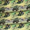 Bomuld/lycra økotex m/digitalt tryk, med traktor i grøn-04