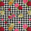 Bomuld/lycra økotex m/digitalt tryk i hanefjed med roser-08