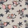 Bomuld/elasthan økotex med stjerner og Dumbo-08