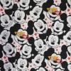 Bomuld/elasthan økotex med Mickey hoveder-09