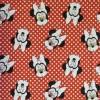 Bomuld/elasthan økotex med Minnie hoveder og prikker-010