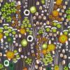 Bomuld lycra økotex retro småblomstret i grå rust lime-09
